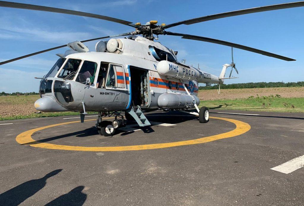 В Тверской области вертолет санавиации доставил пациентов  в региональный сосудистый центр