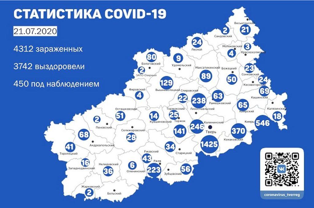 Число умерших от коронавируса в Тверской области достигло 120 человек