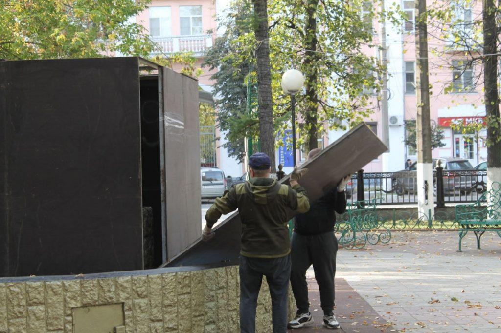Сезон фонтанов завершается в Твери