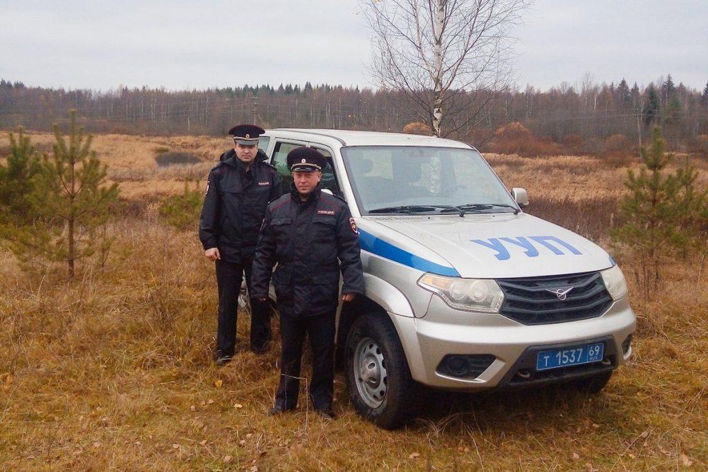 Жительница Санкт-Петербурга поблагодарила полицейских Тверской области, спасших ее мужа