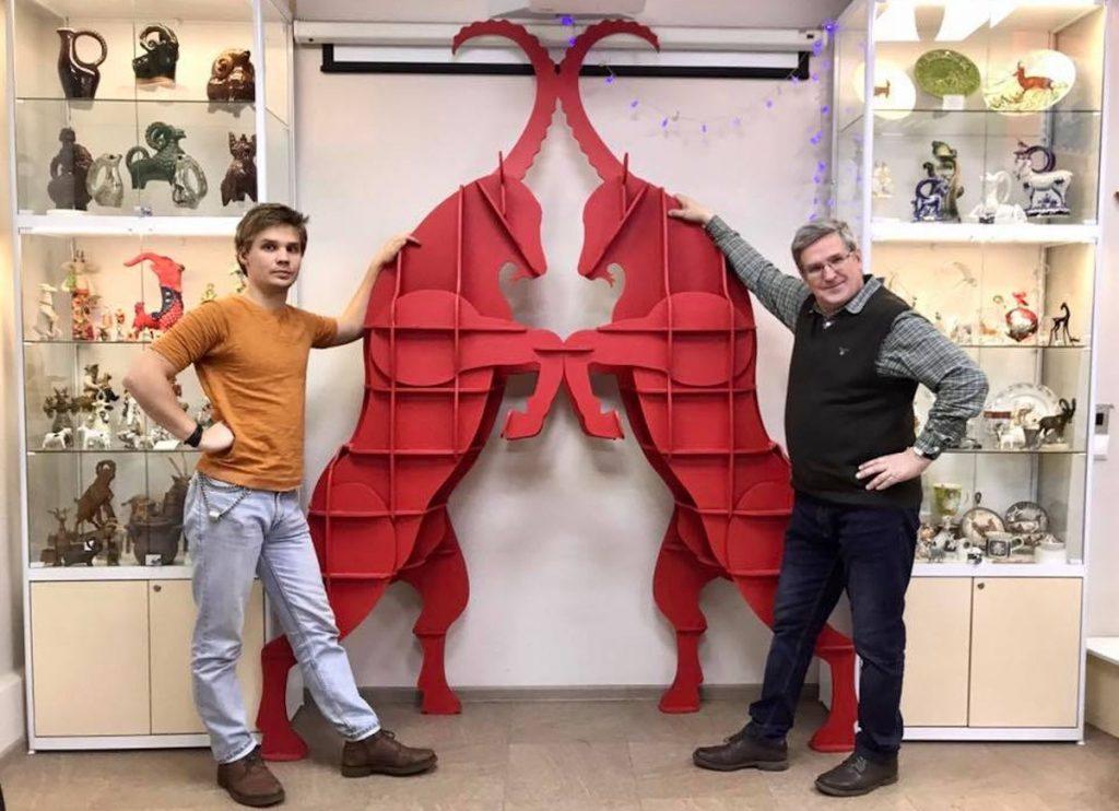 Красные козлы начали музейную службу в Твери
