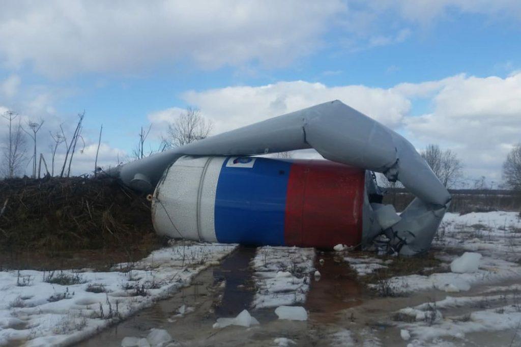 В Тверской области рухнула еще одна водонапорная башня