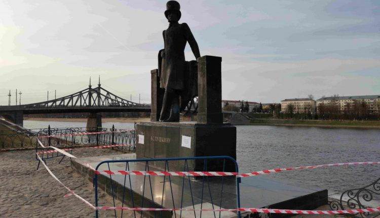 В Твери памятник А. С. Пушкину нуждается в срочном ремонте